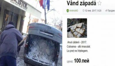 Un moldovean vinde zăpadă! A pus anunțul pe internet