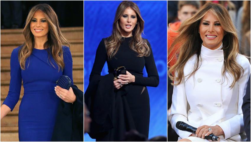 Primele ținute purtate de Melania Trump în calitate de Prima Doamnă a Americii! Află ce designeri o îmbracă