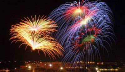 Focurile de artificii din Chișinău în noaptea de Revelion 2017