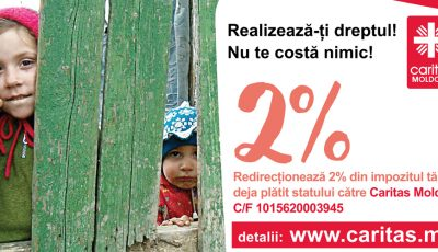 Transformă 2% din impozitul pe venit într-o șansă la o viață mai bună pentru copiii din familiile defavorizate  și bătrânii singuratici