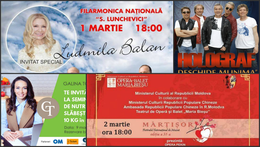 Concerte și evenimente de Mărțișor și de 8 Martie organizate în Capitală! Iată unde poți merge cu familia și prietenii