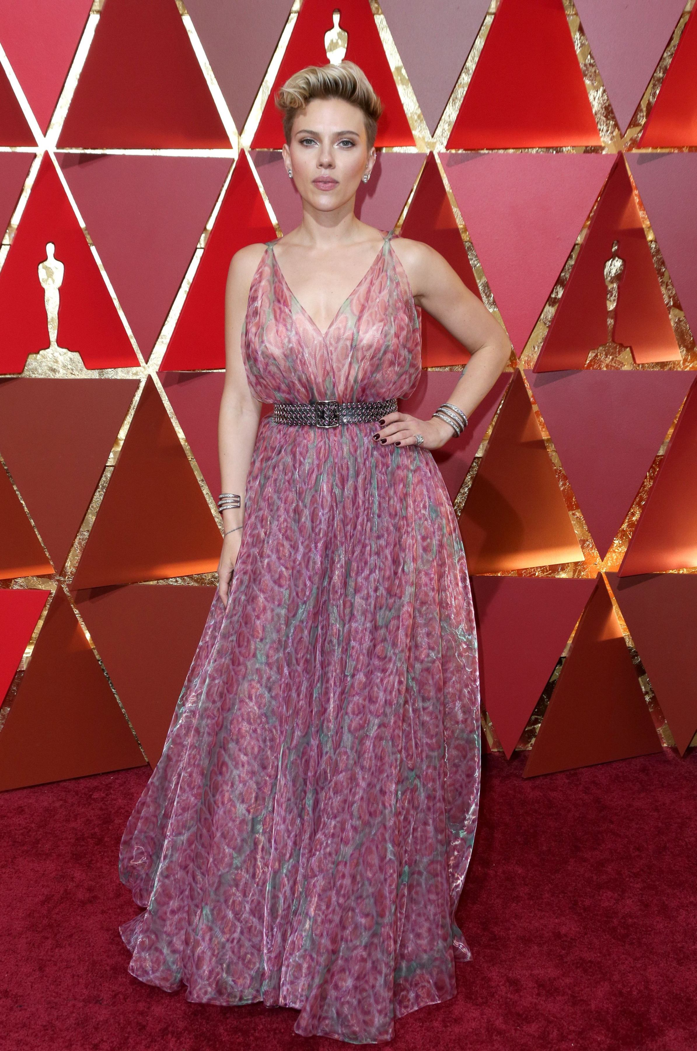 Mandatory Credit: Photo by Jim Smeal/BEI/Shutterstock (8434881hz) Scarlett Johansson 89th Annual Academy Awards, Arrivals, Los Angeles, USA - 26 Feb 2017