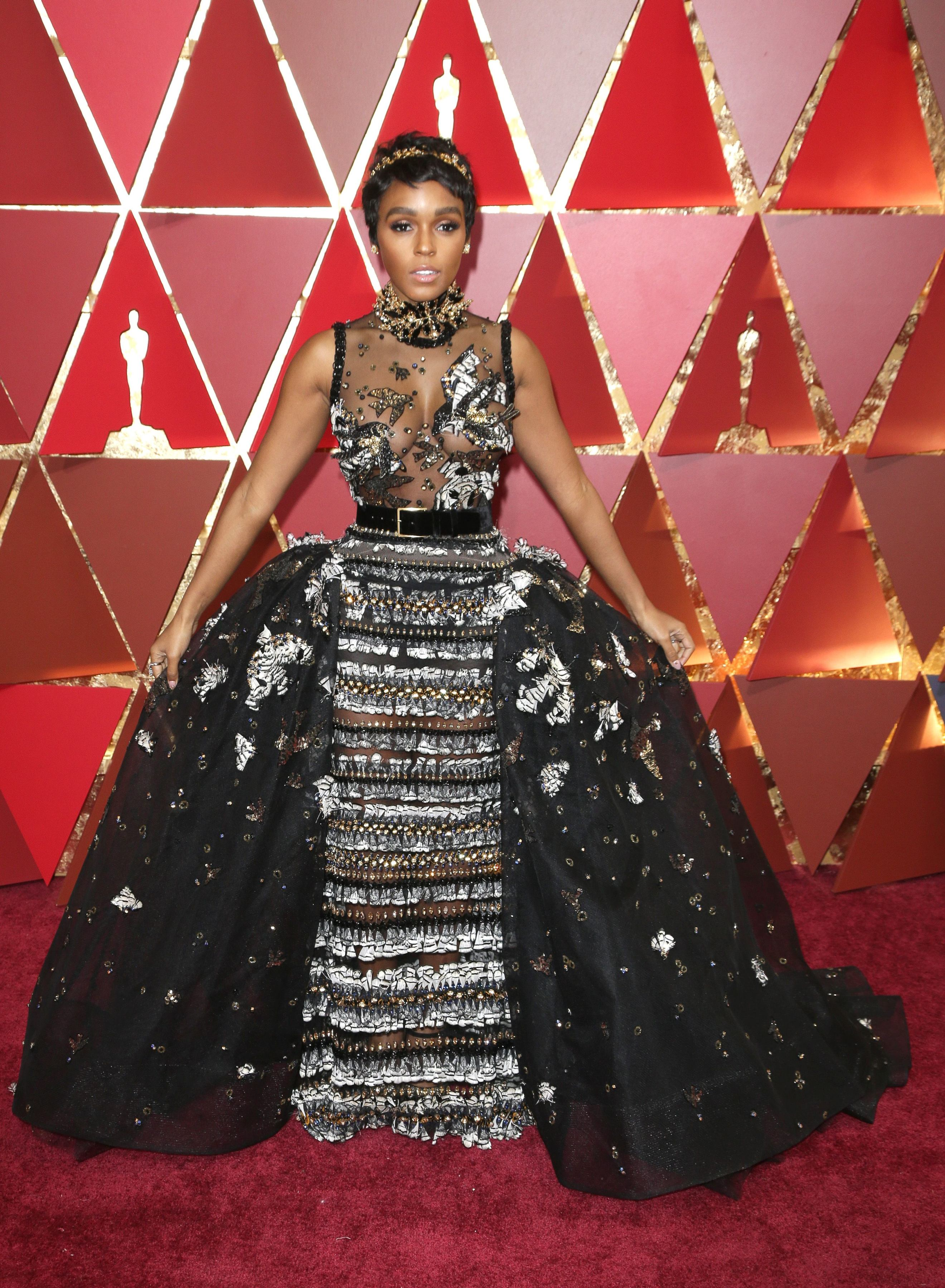 Mandatory Credit: Photo by Jim Smeal/BEI/Shutterstock (8434881kd) Janelle Monáe 89th Annual Academy Awards, Arrivals, Los Angeles, USA - 26 Feb 2017
