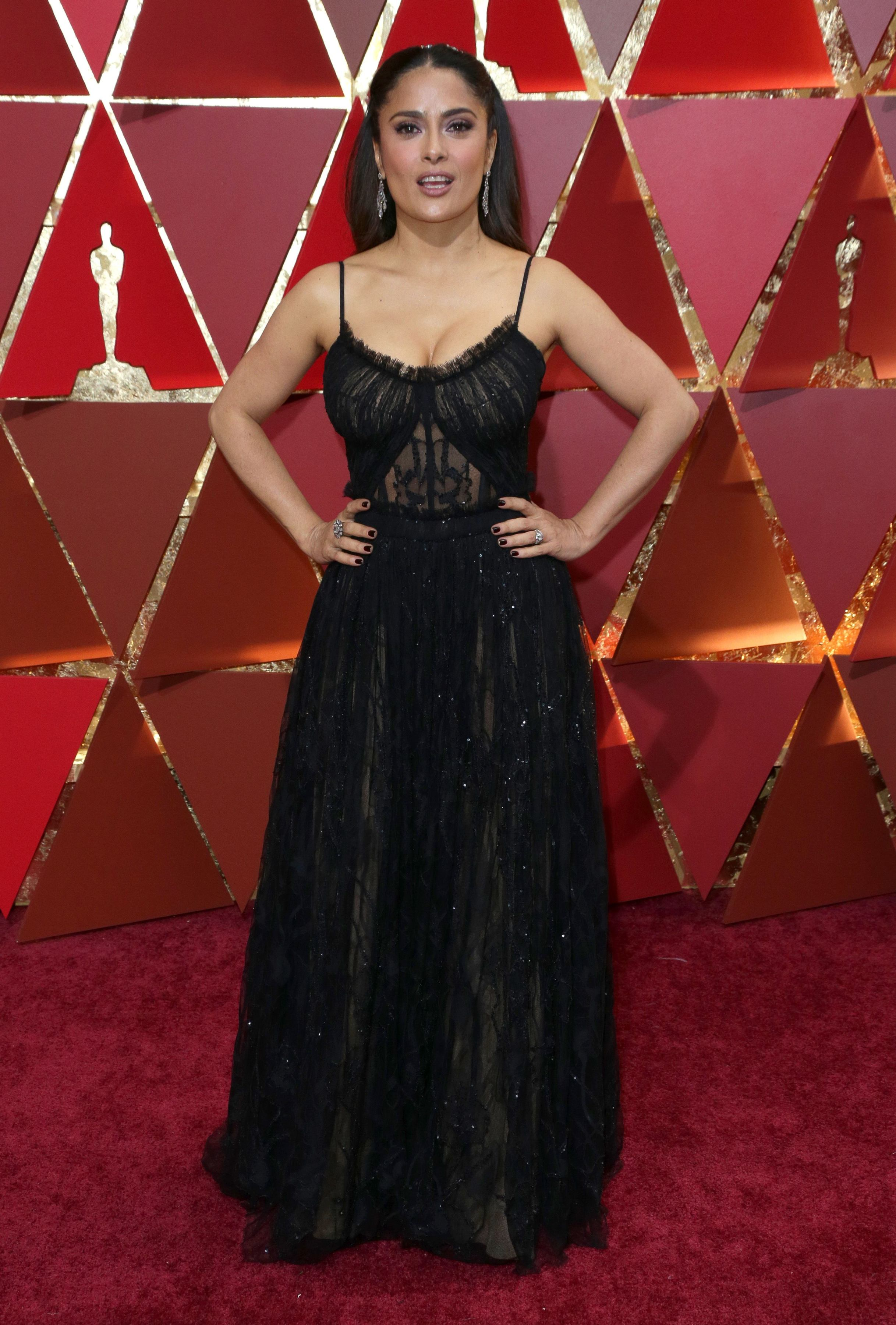 Mandatory Credit: Photo by Jim Smeal/BEI/Shutterstock (8434881kp) Salma Hayek 89th Annual Academy Awards, Arrivals, Los Angeles, USA - 26 Feb 2017