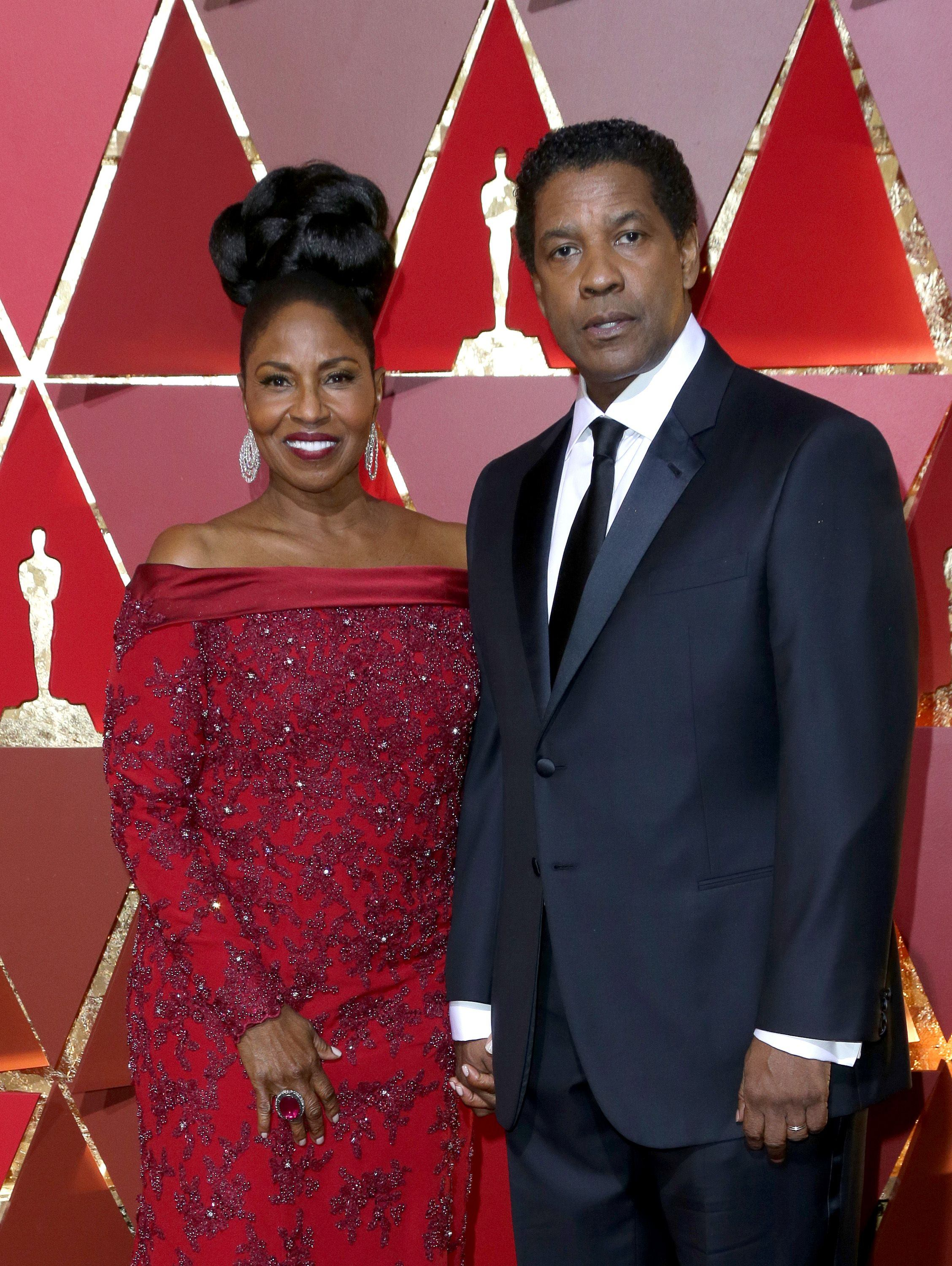 Mandatory Credit: Photo by Jim Smeal/BEI/Shutterstock (8434881nq) Denzel Washington and Pauletta Washington 89th Annual Academy Awards, Arrivals, Los Angeles, USA - 26 Feb 2017