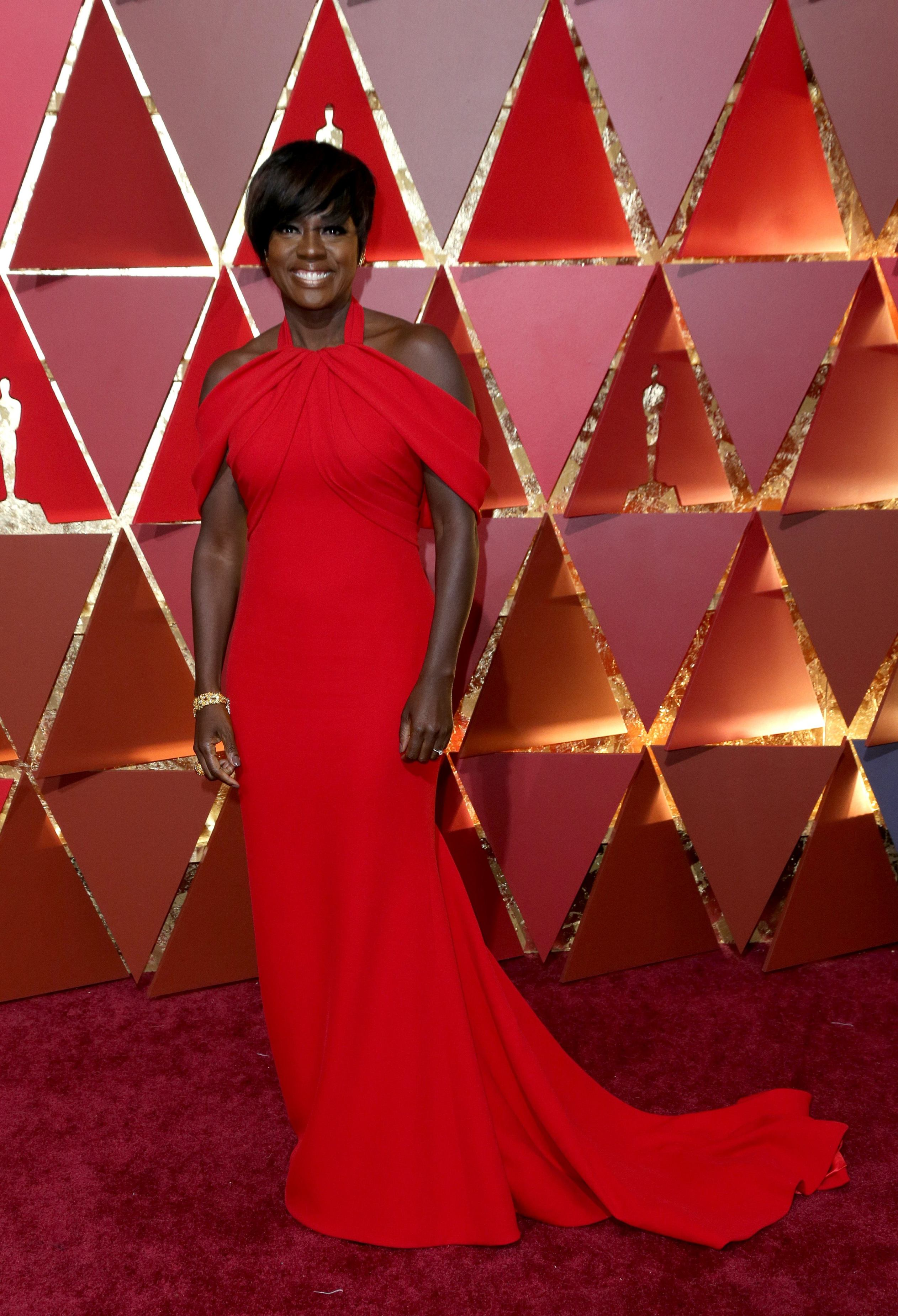 Mandatory Credit: Photo by Jim Smeal/BEI/Shutterstock (8434881oq) Viola Davis 89th Annual Academy Awards, Arrivals, Los Angeles, USA - 26 Feb 2017