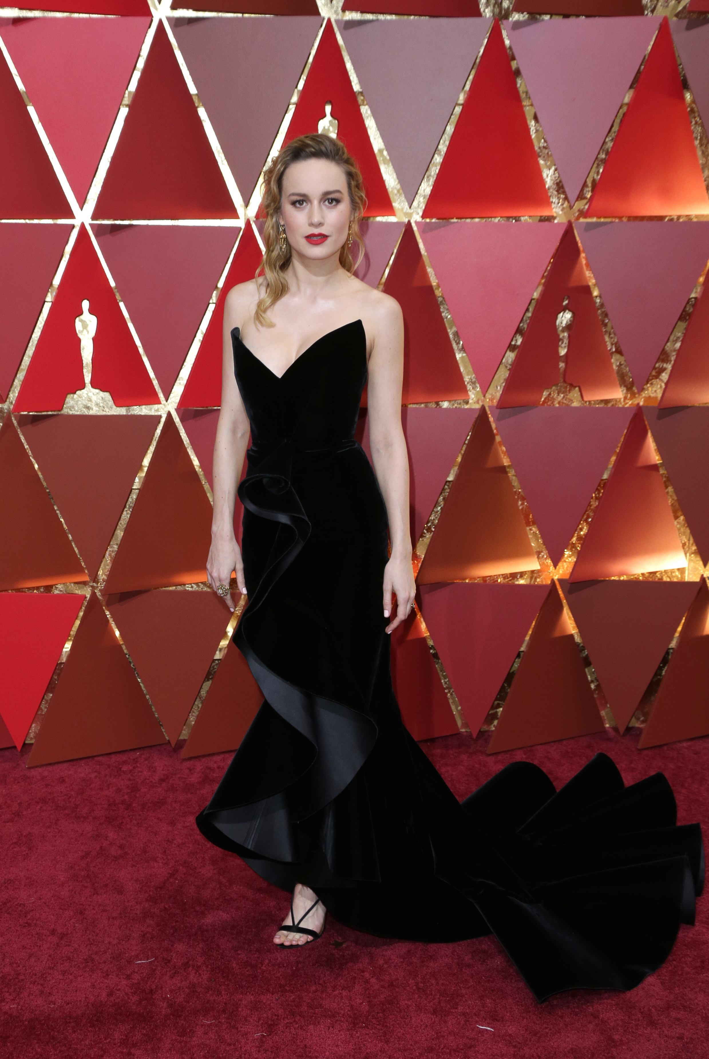 Mandatory Credit: Photo by Jim Smeal/BEI/Shutterstock (8434881qp) Brie Larson 89th Annual Academy Awards, Arrivals, Los Angeles, USA - 26 Feb 2017