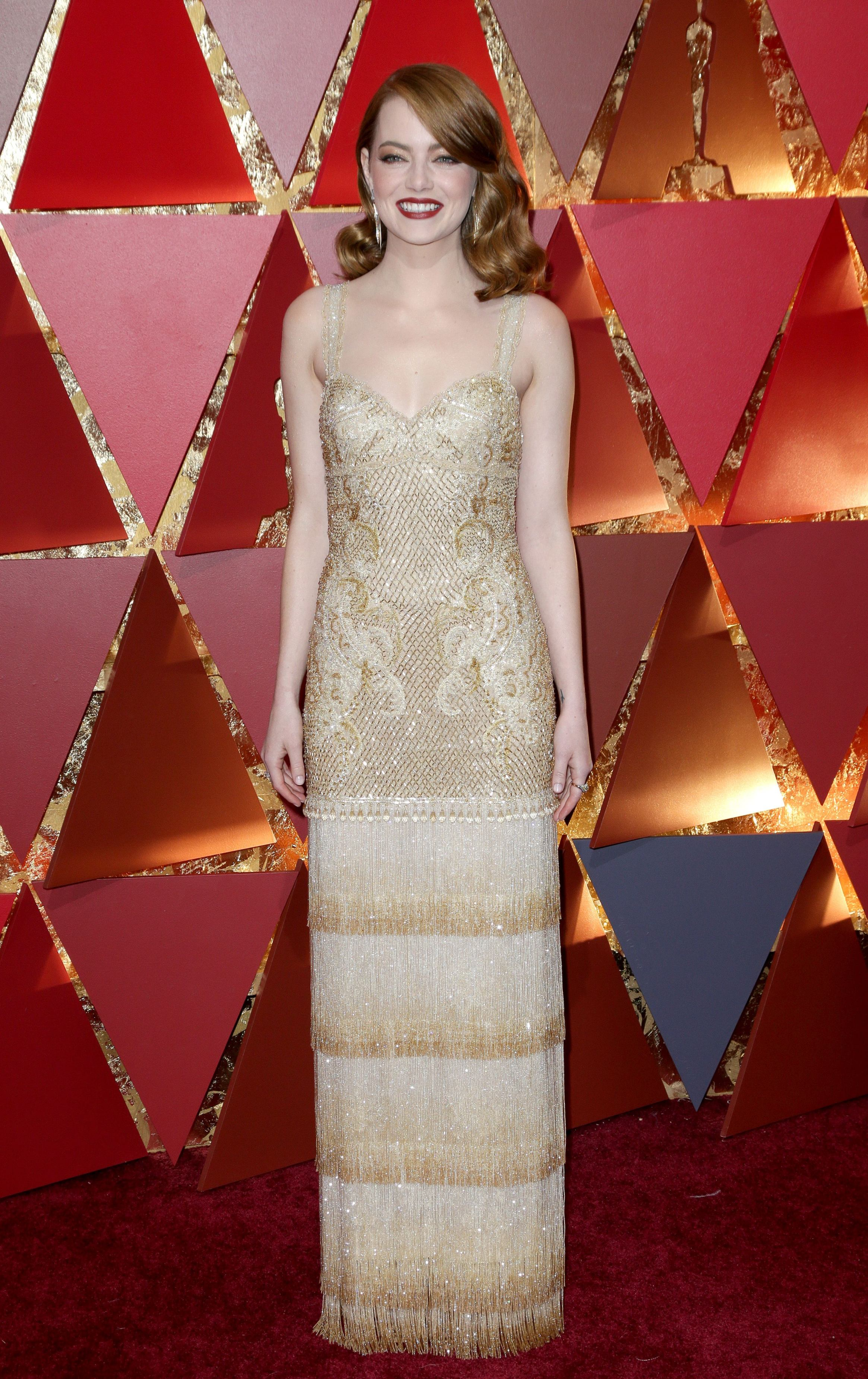 Mandatory Credit: Photo by Jim Smeal/BEI/Shutterstock (8434881sx) Emma Stone 89th Annual Academy Awards, Arrivals, Los Angeles, USA - 26 Feb 2017