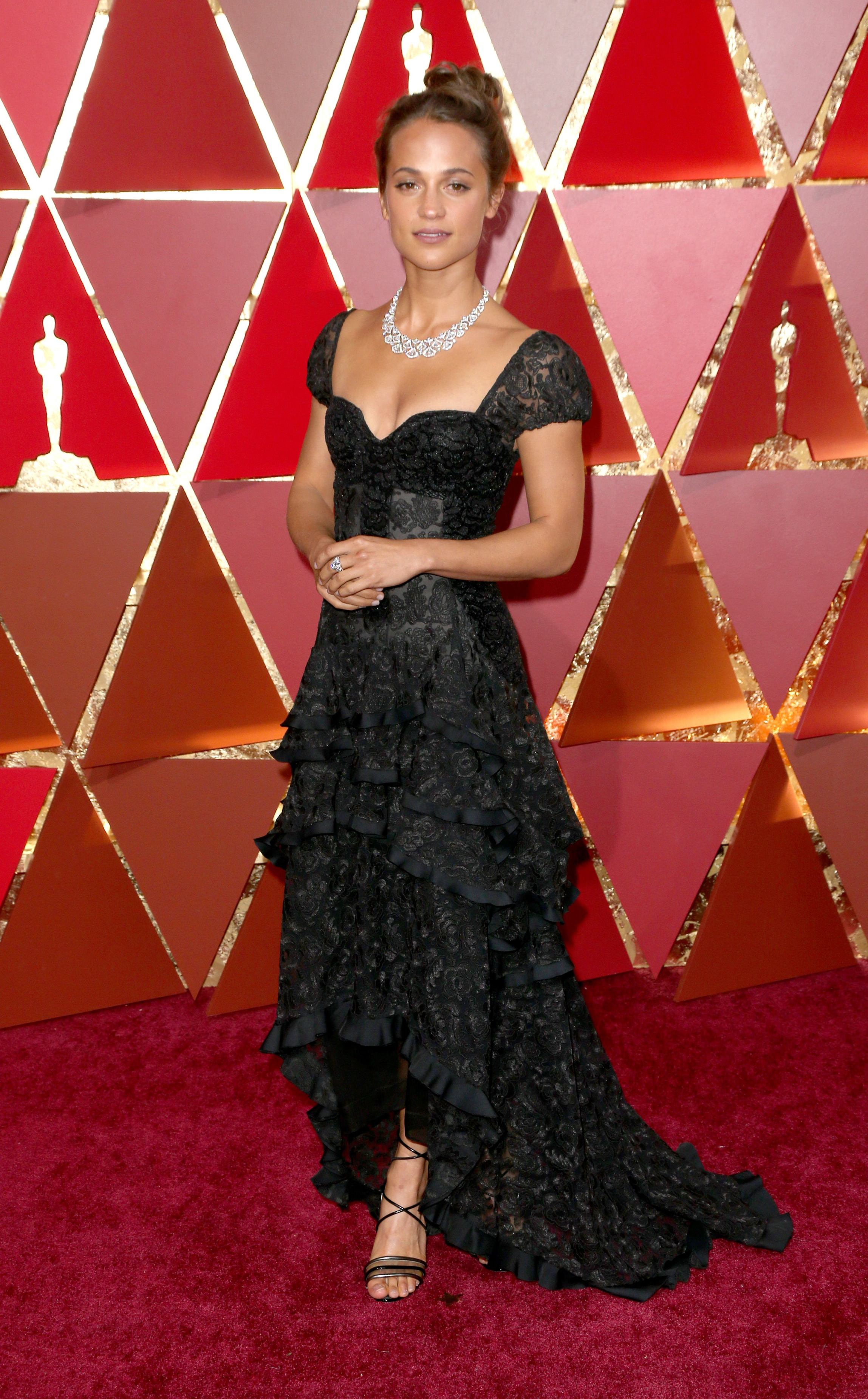 Mandatory Credit: Photo by Jim Smeal/BEI/Shutterstock (8434881ud) Alicia Vikander 89th Annual Academy Awards, Arrivals, Los Angeles, USA - 26 Feb 2017