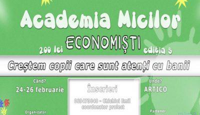 """Crește un copil care să fie atent cu banii! Înscrie-l la """"Academia Micilor Economiști""""!"""
