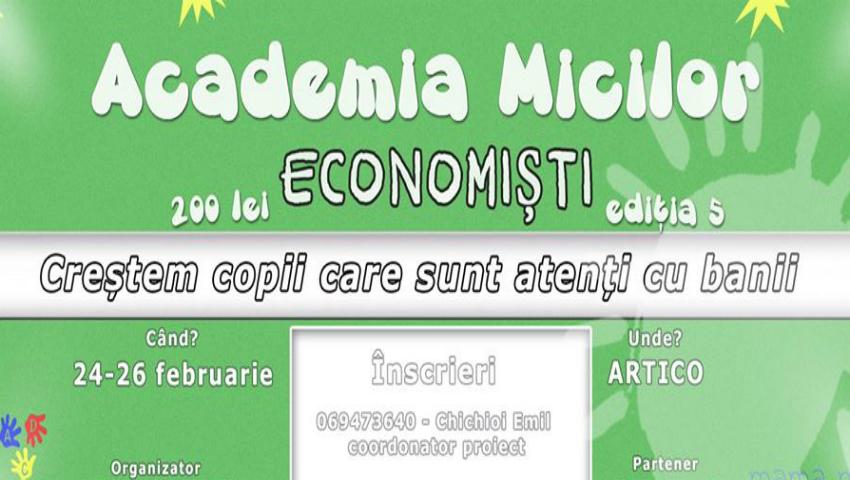 """Foto: Crește un copil care să fie atent cu banii! Înscrie-l la """"Academia Micilor Economiști""""!"""
