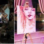 Foto: Nicoleta Vacaru, tânăra care pictează cu produse cosmetice!