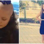 Foto: Adriana Proca, fata cu leucemie, a renunțat la păr