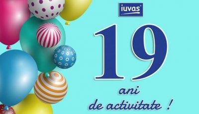 Iuvas împlinește 19 ani de activitate!
