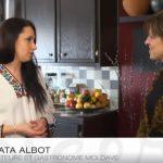 Foto: Nata Albot prezintă bucătăria moldovenească la o televiziune din Canada!