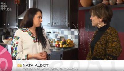 Nata Albot prezintă bucătăria moldovenească la o televiziune din Canada!