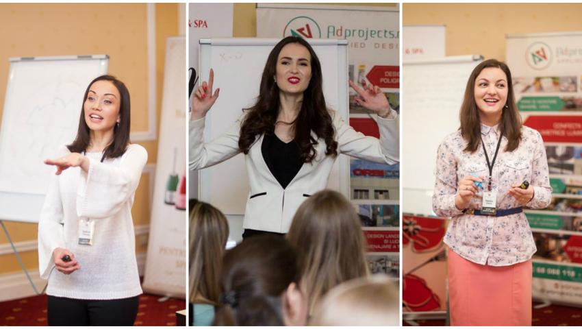 Foto: Ce sfaturi au oferit Galina Tomaș, Vera Nastasiu și Nadia Darie la Women's Days in Chișinău