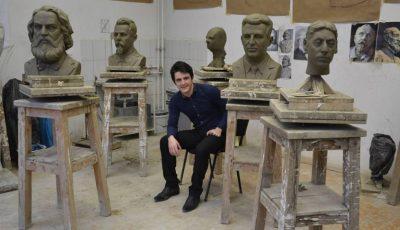 Un tânăr de 21 de ani l-a sculptat pe Ștefan cel Mare. Moldoveanul are un viitor promițător!