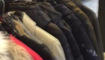 În două magazine din capitală au fost găsite haine contrafăcute