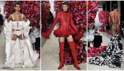 Bărbați în fuste și rochii. Vezi cum au defilat la Milan și Paris Fashion Week