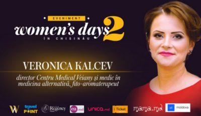 Veronica Kalcev ne va explica cum remediile naturiste ne pot prelungi feminitatea la Woman's days in Chisinau