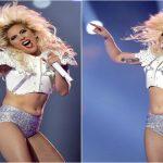 Foto: Lady Gaga s-a făcut de rușine! În timpul unui spectacol și-a etalat burta lăsată