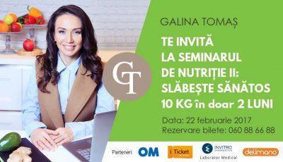 Galina Tomaş te învaţă cum să slăbeşti sănătos 10 kg în doar 2 luni