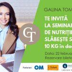 Foto: Galina Tomaş te învaţă cum să slăbeşti sănătos 10 kg în doar 2 luni
