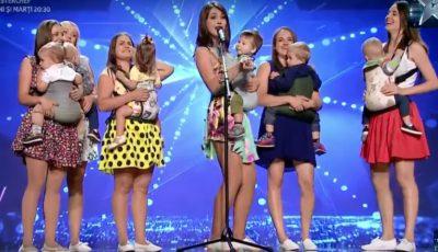 """Dans cu bebelușii în brațe! Un grup de mămici din Chișinău a făcut senzație la ,,Românii au Talent""""!"""