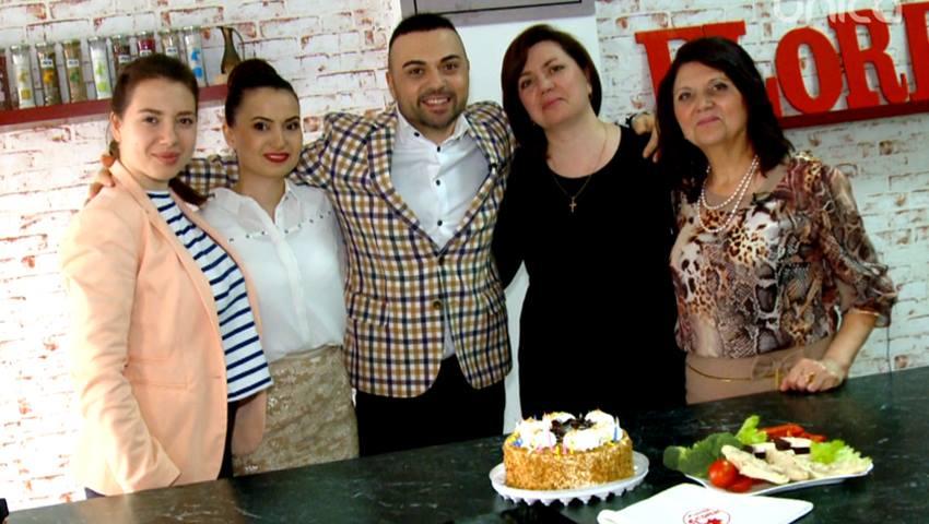 Foto: Igor Sîrbu a gătit în bucătăria noastră împreună cu mama, surorile și nepoata