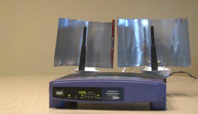 Idee ingenioasă de a crește puterea semnalului WiFi