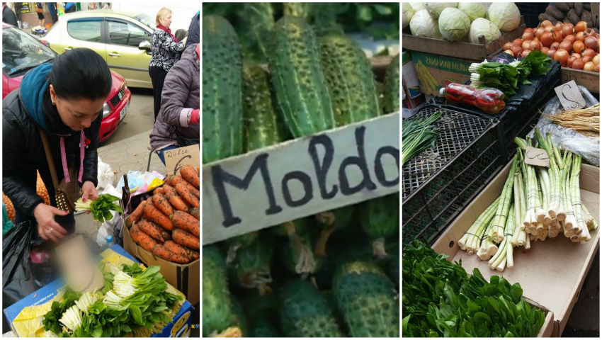 Foto: În piețele din Capitală au apărut primele legume de producție autohtonă. Vezi ce prețuri afișează comercianții
