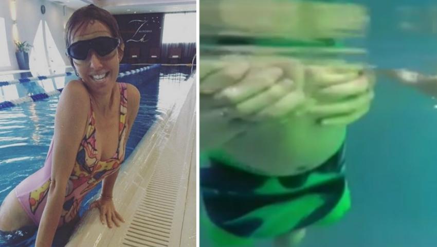 Foto: Video! Fiul Xeniei Sobchak învață să înoate