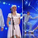 """Foto: Senzațional! Un cuplu de gimnaști moldoveni a impresionat cu un dans pe role la ,,Românii au Talent"""""""