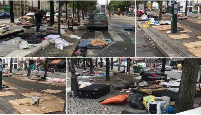 Paris: cum arată orașul după ce a fost luat cu asalt de refugiați. Poze