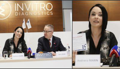 """Lansarea inițiativei ,,Dăruiește sănătate"""", alături de Andreea Marin, la """"Invitro Diagnostics""""!"""