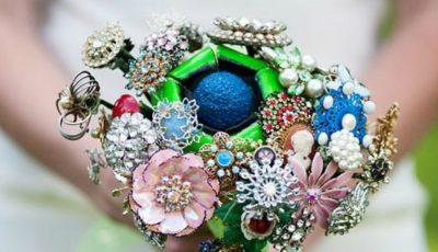 Cele mai frumoase buchete de mireasă din bijuterii