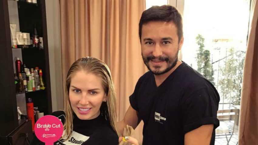 Foto: Andreea Bănică și-a donat părul!