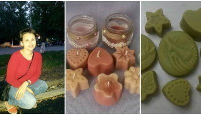 Zina Marian face săpunuri artizanale, bile efervescente, lumânări din ceară de soia și alte produse naturiste