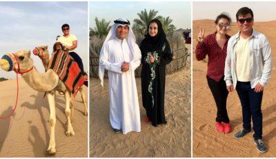 Corina Țepeș și Costi Burlacu explorează Emiratele Arabe Unite!