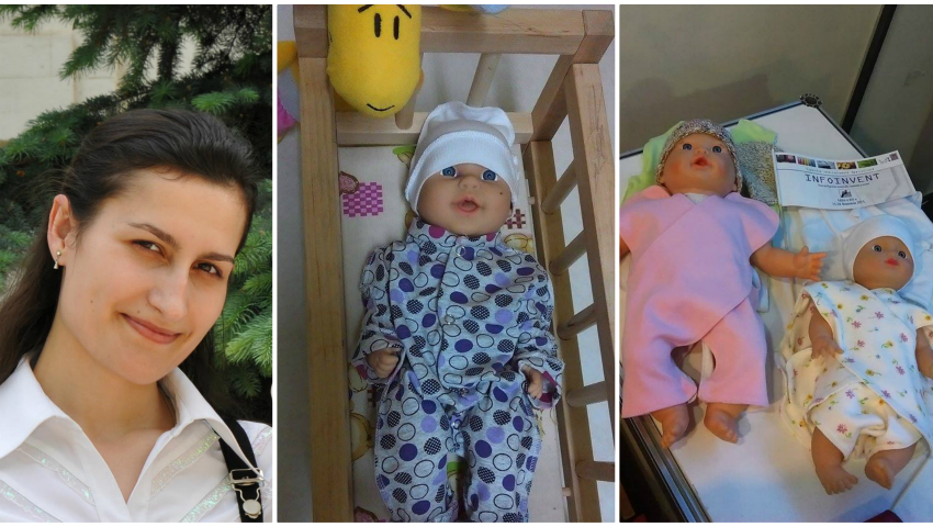 Foto: Victoria Cojocari Danila creează haine pentru copiii născuți prematur!