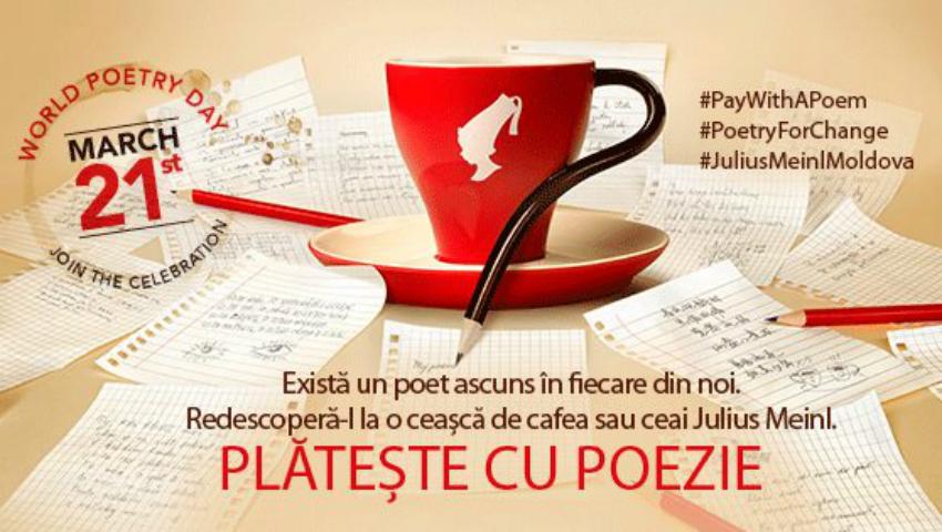 Foto: Pe 21 martie, vei putea achita cafeaua cu o poezie! Vezi lista localurilor care încurajează arta