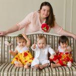 Foto: Tatiana Ciutac și tripleții ei, într-un pictorial emoționant