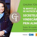 Foto: Galina Tomaş te invită la cel de-al treilea seminar: Secretele vindecări prin alimentaţie!