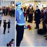 Foto: Femeile au fost invitate la dans de 8 martie, pe Aeroportul Internațional Chișinău!