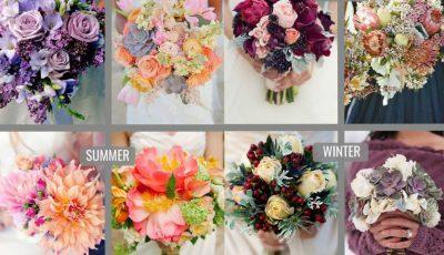 Florile perfecte din buchetul de mireasă în funcţie de anotimp