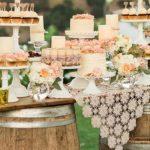 Foto: Idei de candy bar pentru o nuntă în stil rustic