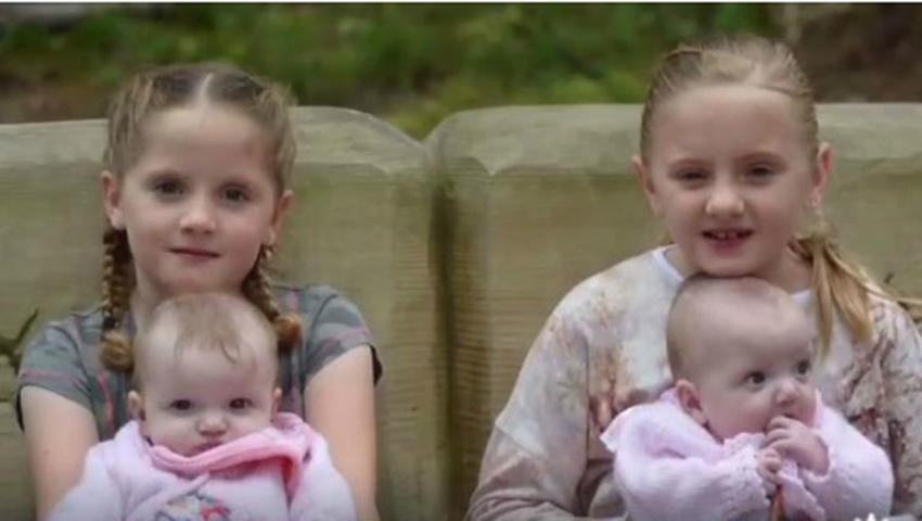Foto: Două perechi de gemene au fost născute în aceeași zi, de către aceeași mamă!