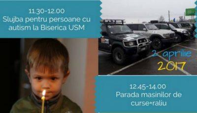 """Pe 2 aprilie, vino să susții copiii cu autism la evenimentele organizate de AO ,,SOS Autism""""!"""