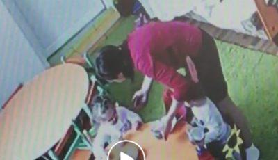 Video! Copil lovit de educatoare la o grădiniță din Capitală